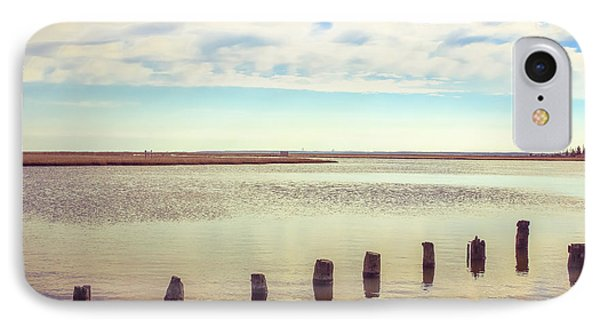 IPhone Case featuring the photograph Wood Pilings In Still Water by Colleen Kammerer