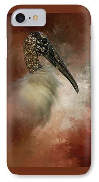 Stork iPhone 7 Case - Wood Portrait  by Marvin Spates
