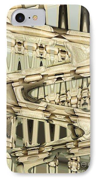 Wood Sine Phone Case by Ron Bissett