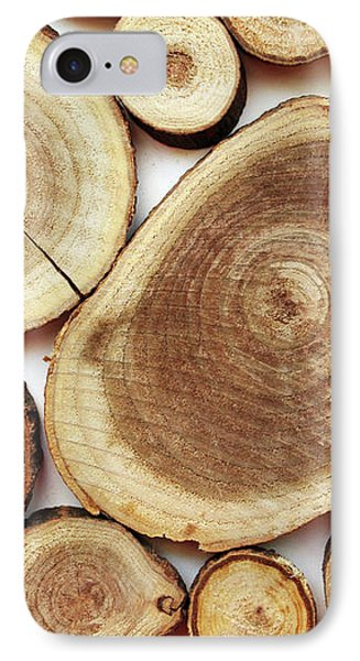 Wood Slices- Art By Linda Woods IPhone Case by Linda Woods