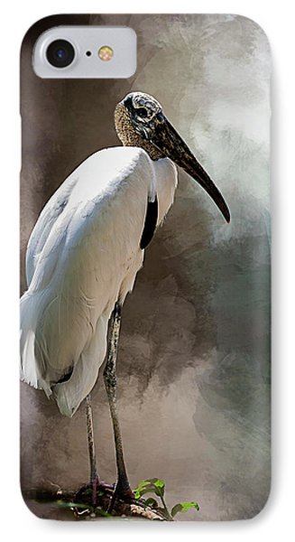 Wood Stork IPhone Case by Cyndy Doty