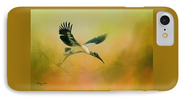 IPhone Case featuring the photograph Wood Stork Encounter by Marvin Spates