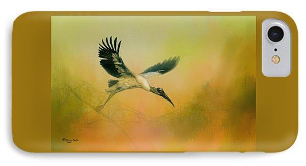 Wood Stork Encounter IPhone Case
