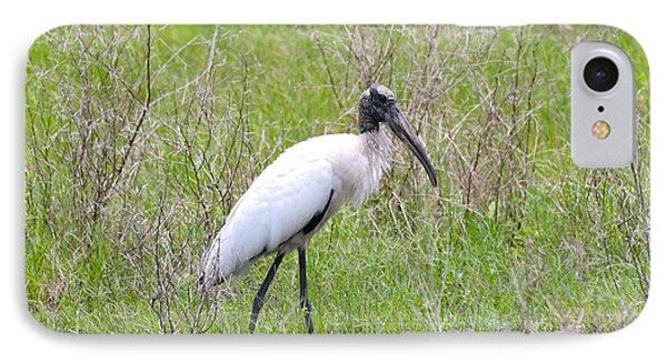 Wood Stork In The Marsh IPhone 7 Case by Carol Groenen