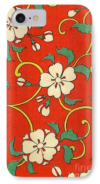Woodblock Print Of Apple Blossoms IPhone Case by Japanese School