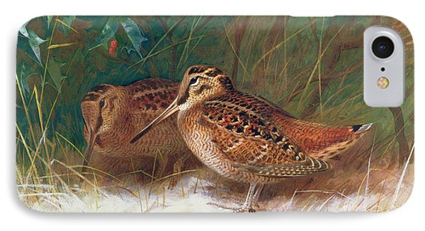 Woodcock In The Undergrowth IPhone Case by Archibald Thorburn