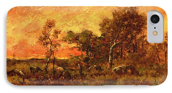 Wooded Landscape With A Faggot Gatherer IPhone Case