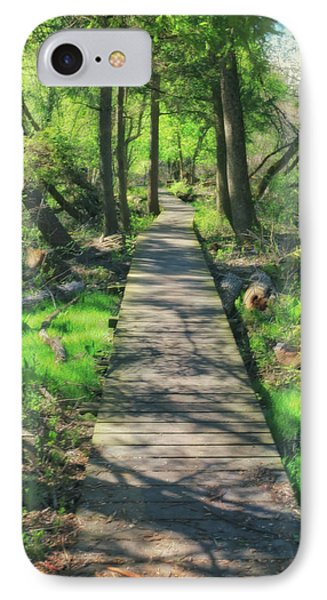 Wooded Path - Spring At Retzer Nature Center IPhone Case by Jennifer Rondinelli Reilly - Fine Art Photography