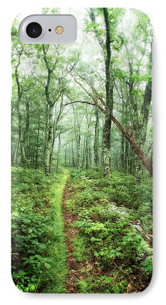IPhone Case featuring the photograph Wooded Trail by Alan Raasch