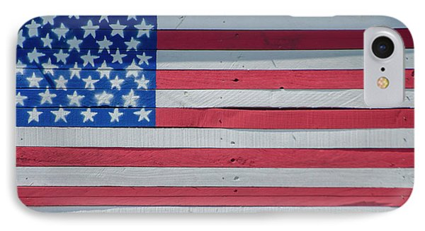 IPhone Case featuring the photograph Wooden American Flag by Bill Cannon