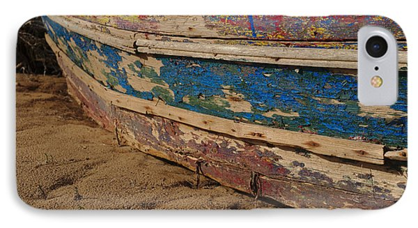 Wooden Boat Washed Paint IPhone Case by Angelo DeVal