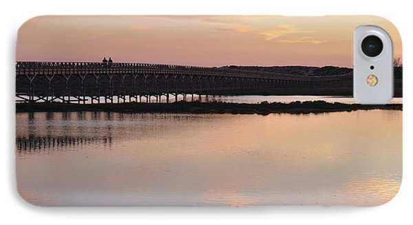 Wooden Bridge And Twilight IPhone Case by Angelo DeVal