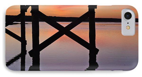 Wooden Bridge Silhouette At Dusk IPhone Case