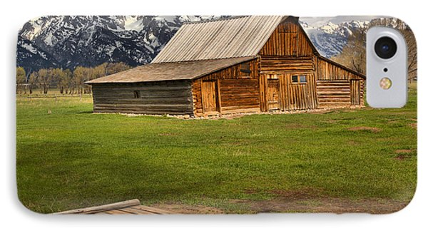 Wooden Bridge To The Wooden Barn IPhone Case by Adam Jewell
