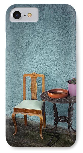Wooden Chair And Iron Table IPhone Case by Carlos Caetano