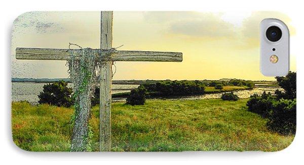 Wooden Cross 1 Phone Case by Sheri McLeroy