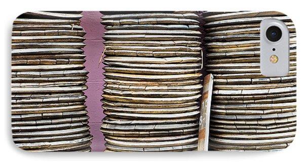 Wooden Discs IPhone Case by Tom Gowanlock