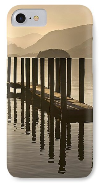 Wooden Dock In The Lake At Sunset Phone Case by John Short