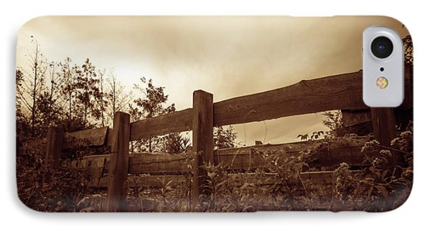 Wooden Fence IPhone Case by Wim Lanclus