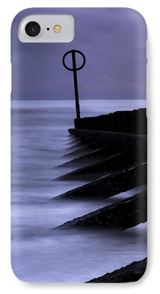 IPhone Case featuring the photograph Wooden Groynes Of Aberdeen Scotland by Gabor Pozsgai