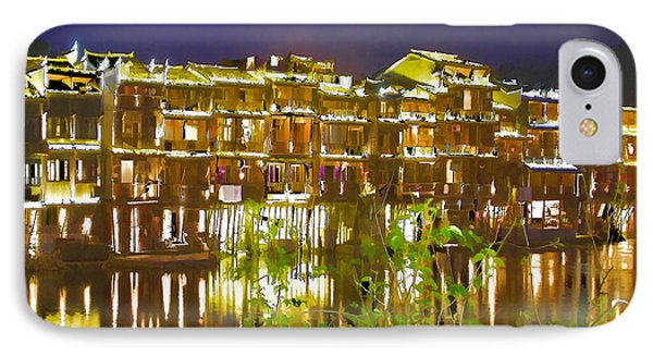 Wooden Houses 1 IPhone Case by Lanjee Chee