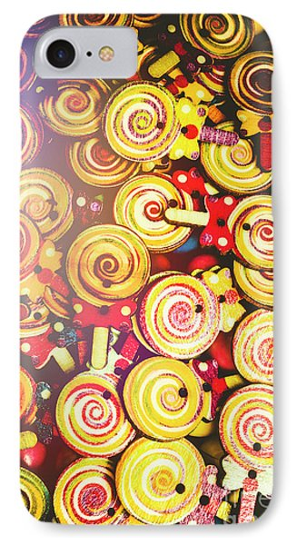 Wooden Lollipops IPhone Case by Jorgo Photography - Wall Art Gallery
