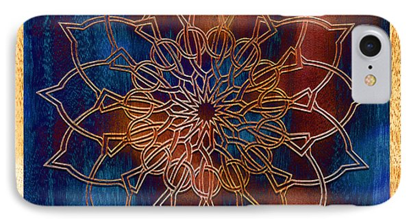 Wooden Mandala Phone Case by Hakon Soreide