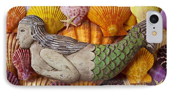 Wooden Mermaid IPhone 7 Case by Garry Gay