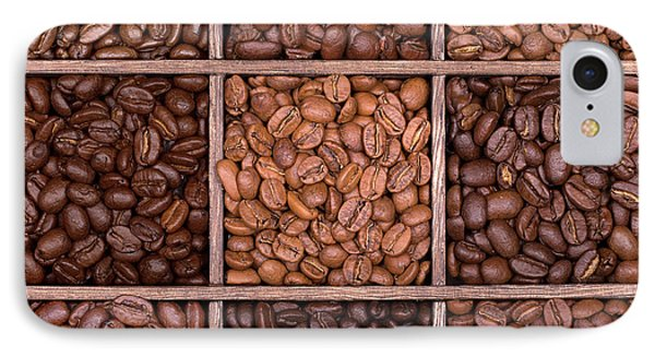 Wooden Storage Box Filled With Coffee Beans IPhone Case