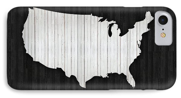 Wooden Usa  Map IPhone Case