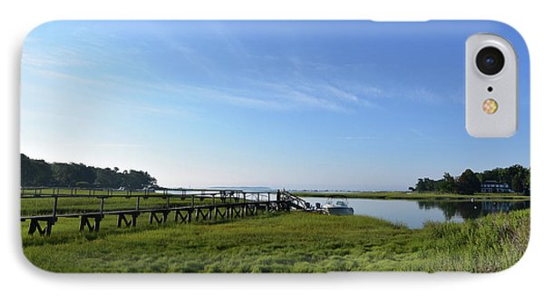 Wooden Walkway In Duxbury Out To The Bay IPhone Case