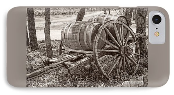 Wooden Wine Barrels On Cart IPhone Case by Imagery by Charly
