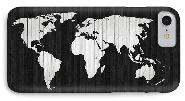 Wooden World Map IPhone Case