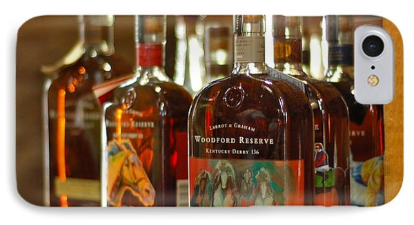 Woodford Kentucky Derby Bottles IPhone Case by Constance Sanders