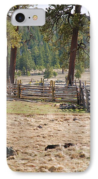 IPhone Case featuring the photograph Woodland Corral - White Mountains Arizona by Donna Greene