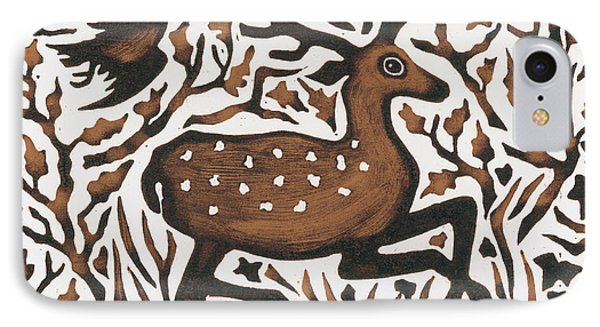 Woodland Deer IPhone Case by Nat Morley