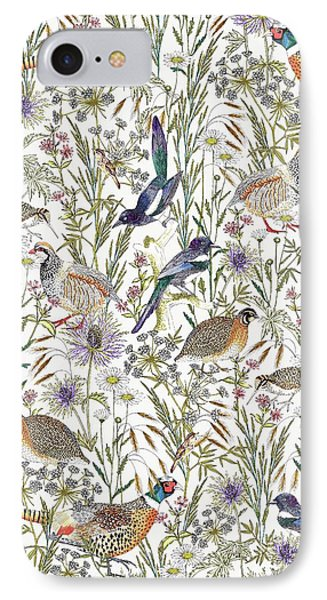 Magpies iPhone 7 Case - Woodland Edge Birds by Jacqueline Colley
