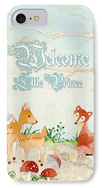 Woodland Fairy Tale - Welcome Little Prince IPhone Case