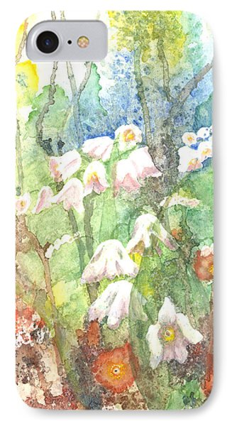 IPhone Case featuring the painting Woodland Garden by Renate Nadi Wesley