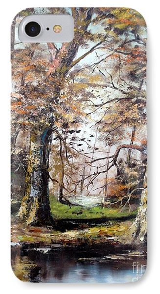IPhone Case featuring the painting Woodland Pond  by Lee Piper