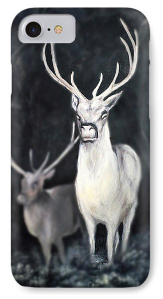 IPhone Case featuring the painting Woodland Spirits by Nancy Bradley