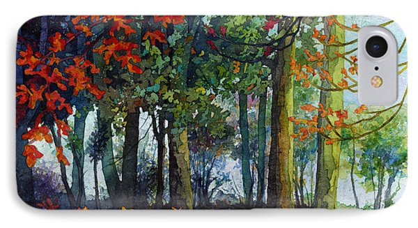 IPhone Case featuring the painting Woodland Trail by Hailey E Herrera