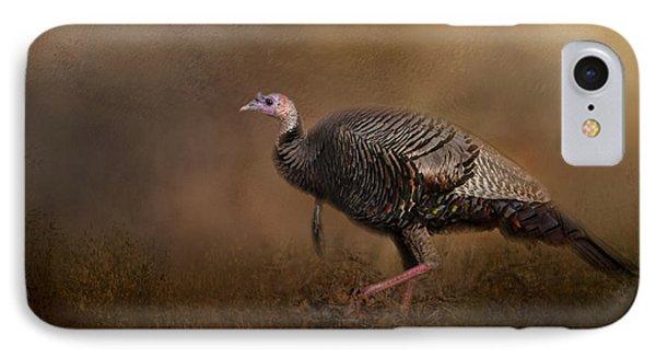 Woodland Walk - Wild Turkey Art IPhone 7 Case by Jai Johnson