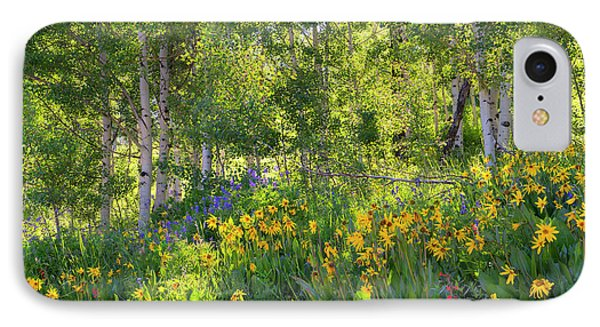 IPhone Case featuring the photograph Woodland Wildflowers by Tim Reaves