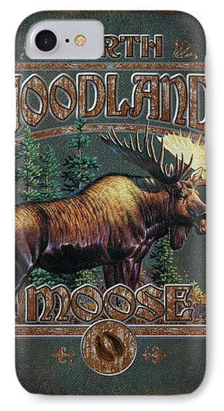 Woodlands Moose IPhone Case by JQ Licensing