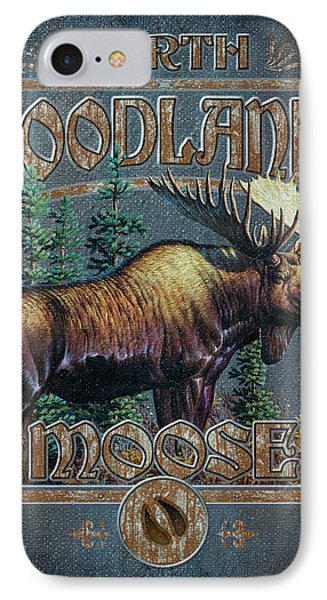 Woodlands Moose Sign IPhone Case