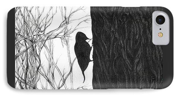 Woodpecker IPhone Case by Anna  Duyunova