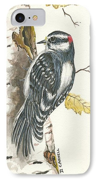 IPhone Case featuring the painting Woodpecker by Darren Cannell