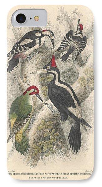 Woodpeckers IPhone 7 Case by Anton Oreshkin