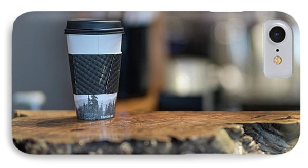 IPhone Case featuring the photograph Woods Coffee by Jim  Hatch